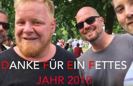 Danke für ein fettes Jahr 2018